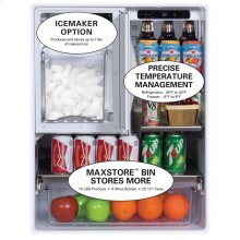 """24"""" Outdoor Refrigerator/Freezer with Ice Maker Option - Right Hinge"""