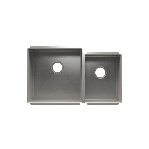 """J7® 003952 - undermount stainless steel Kitchen sink , 18"""" × 18"""" × 10""""  12"""" × 16"""" × 8"""""""