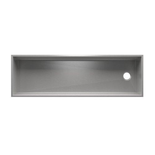 "SmartStation® 005455 - undermount stainless steel Kitchen sink , 60"" × 18 1/8"" × 10"" (Walnut)"