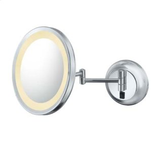 Italian Bronze Single-Sided LED Round Wall Mirror Product Image
