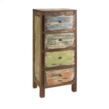 Aletta Recycled Wood 4-Drawer Chest
