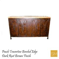 * Travertine Buffet Cabinet 1239 C Product Image