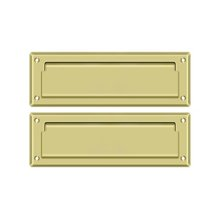 """Mail Slot 8 7/8"""" with Back Plate - Polished Brass"""