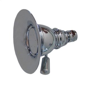 Showerhaus small, round rainfall showerhead with easy-to-clean spray holes. Solid brass construction with adjustable ball joint. Product Image