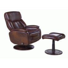 Chair-pedestal recline w/ottoman