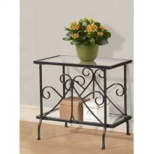 Metal & Glass Plant Table