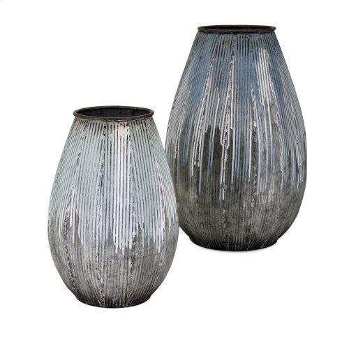 Robinson Large Metal Vase