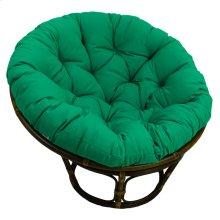 Bali 42-inch Indoor Fabric Rattan Papasan Chair - Walnut/Emerald