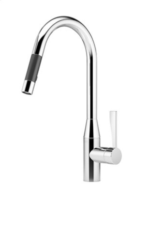 Single-lever mixer pull-down with spray function - chrome Product Image
