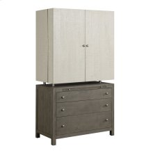 Emerald Home Jenga Complete Bar Cabinet-driftwood Wood Base With White Finish Top