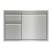 "30"" Combination Double Drawers and Door Storage"