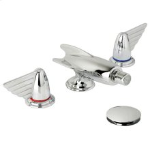 Belle Aire three hole deck mounted lever bidet set with slow running waste