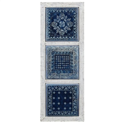 Ghufran Framed Metal Tile Wall Decor - Ast 2