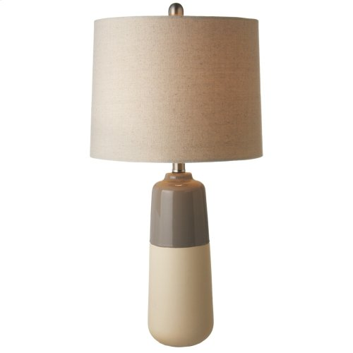Dipped Taupe Table Lamp. 60W Max.