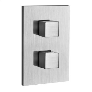 """TRIM PARTS ONLY External parts for thermostatic with single volume control Single backplate 1/2"""" connections Vertical/Horizontal application Anti-scalding Requires in-wall rough valve 09279 Product Image"""