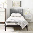 """Jenna 8"""" Queen Innerspring Mattress in White Product Image"""