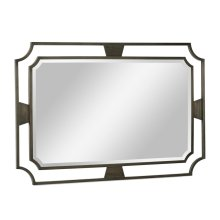Rectangular Curved Bronzed Wall Hanging Mirror