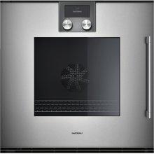 "200 series 200 series single oven Full glass door in Gaggenau Metallic Width 24"" (60 cm) Left-hinged"