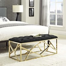 Intersperse Bench in Gold Black