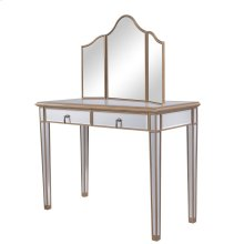 Vanity Table 42 in. x 18 in. x 31 in. and Mirror 39 in. x 24 in.