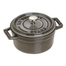 Staub Cast Iron 3.94-inch round Mini Cocotte, Grey