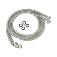 Washing Machine Universal 6' stainless steel hoses with 90° Elbow - 2 hose package
