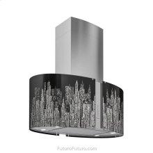 34 Inch Murano New York LED Island Range Hood, Range Hood