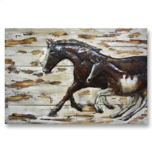Mare and Foal 32x48 Wood and Metal