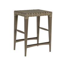 Milo Leather Backless Counter Stool