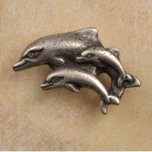 Dolphin Family Knob Facing Left