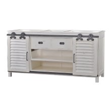 Sonoma Vanity w/Sliding Shutter Doors w/out Marble & Sink