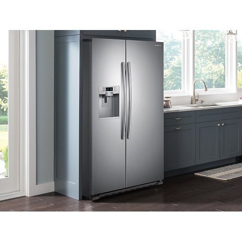 22 cu. ft. Counter Depth Side-by-Side Refrigerator in Stainless Steel