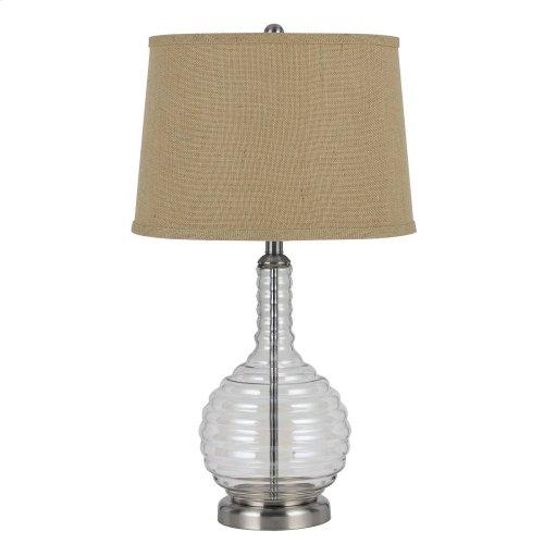 150W 3 Way Glass Table Lamp