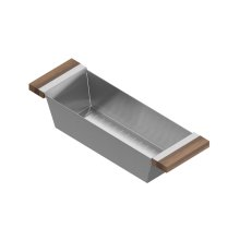Colander 205225 - Stainless steel sink accessory , Walnut