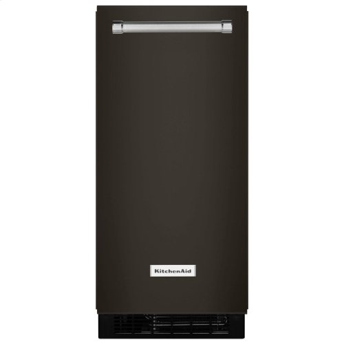 KitchenAid® 15'' Automatic Ice Maker with PrintShield Finish - Black Stainless Steel with PrintShield™ Finish