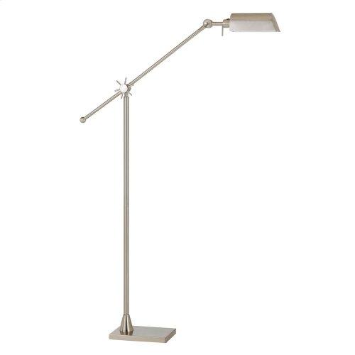 7W, 450 Lumen, 3000K LED Adjust able Metal Floor Lamp With Metal Shade
