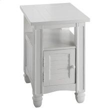 Nantucket 1-door Chairside Table In White