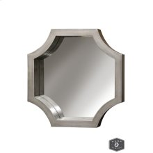 MADISON MIRROR- SILVER  Silver Finish on Wood Frame  Plain Glass Beveled Mirror