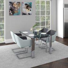 Frankfurt/Modena 5pc Dining Set, Grey