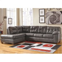 Signature Design by Ashley Alliston Sectional with Left Side Facing Chaise in Gray Faux Leather [FSD-2399LFSEC-GRY-GG]