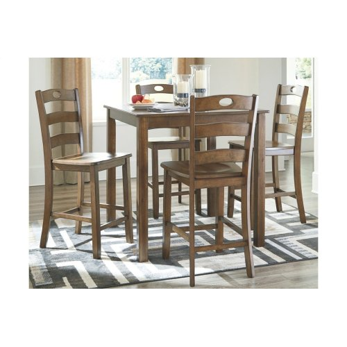Hazelteen - 5 Piece Counter Height Dining Room Set