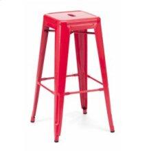 Detroit - Modern Red Metal Barstool (Set of 2)