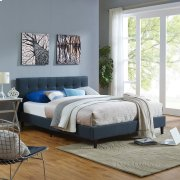 Linnea Queen Fabric Bed in Azure Product Image