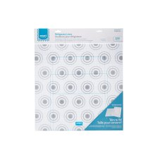 Trim-to-Fit Refrigerator Liner, Grey Circles 2 Pack