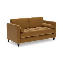 Luxe Cognac Sinclair Loveseat