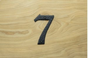 "7 Black 4"" Mailbox House Number 450150 Product Image"