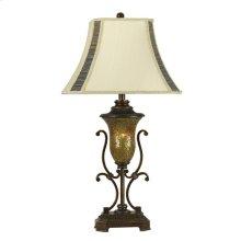 150W 3-Way Elizabethe Table Lamp with 7W Nightlight