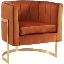 """Carter Velvet Accent Chair - 29"""" W x 27.5"""" D x 31"""" H"""