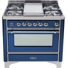 Midnight Blue with Chrome trim - Majestic 36-inch Range with Griddle Product Image