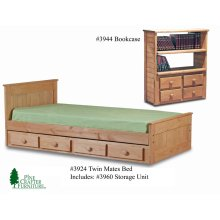 Twin Mates Bed Includes #3960 Four Drawer Unit
